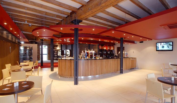 Restaurant interior design - bar and cafe area